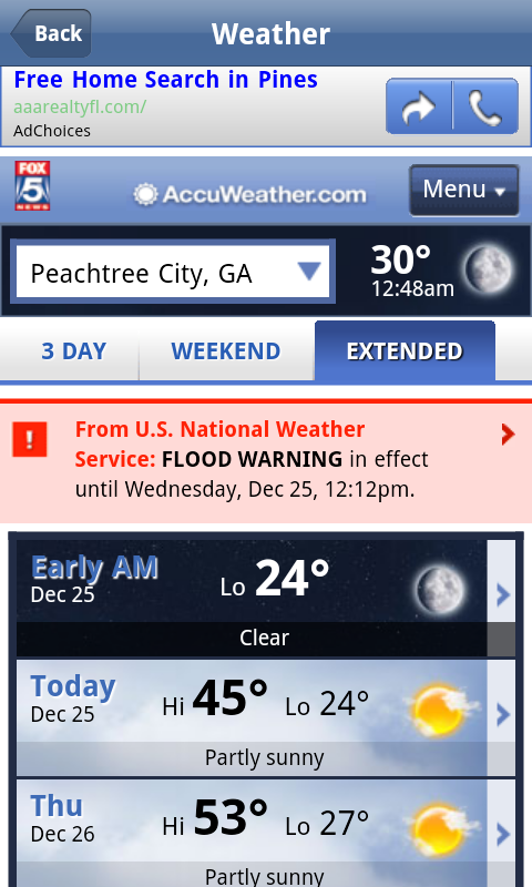 Peachtree City App- screenshot