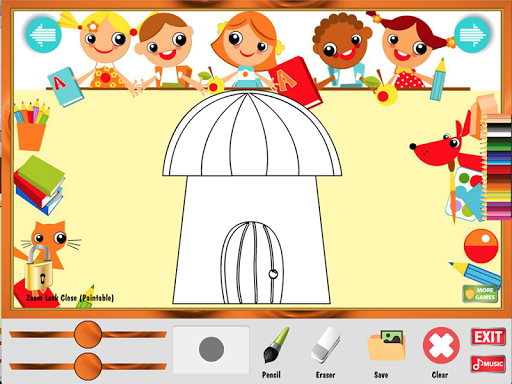 無料教育Appの着色ゲーム:住宅|HotApp4Game