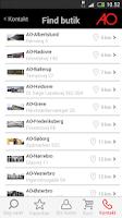 Screenshot of AO.dk Mobil