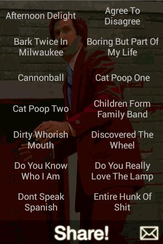 Ron Burgundy Soundboard