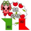 GO SMS - Glam Skullz 3 icon