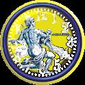 Aquarius Zodiac Analog Clock icon