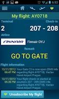 Screenshot of Prague airport
