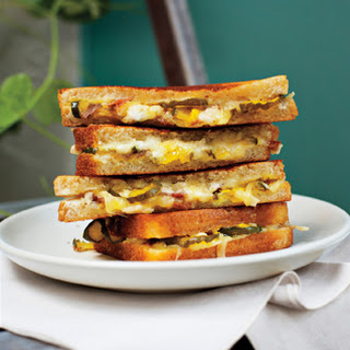 Grilled Ham, Cheese and Pickle Sandwiches