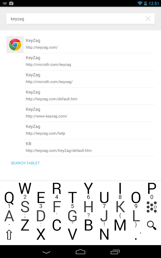 KeyZag Keyboard Free - screenshot