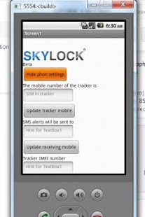 Skylock SMS app - screenshot thumbnail