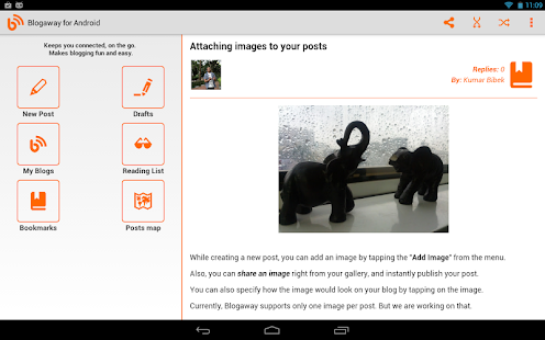 Blogaway for Android (Blogger)- screenshot thumbnail