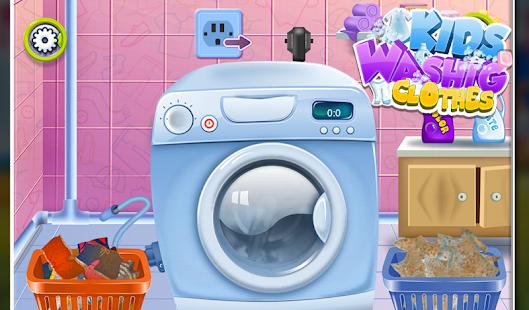 孩子們洗衣服