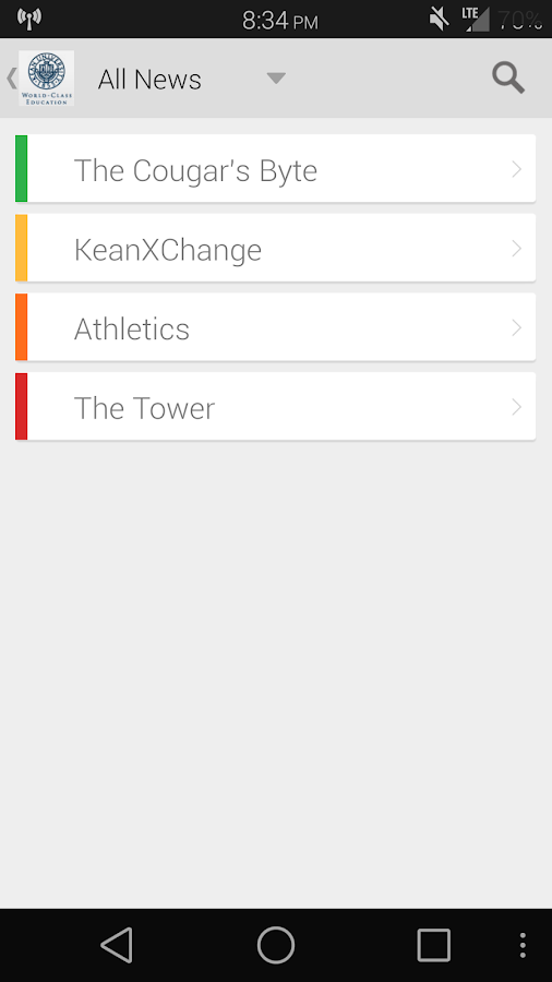 Kean Mobile- screenshot