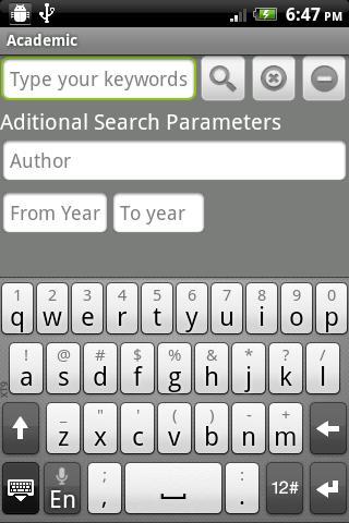 Academic – snímek obrazovky