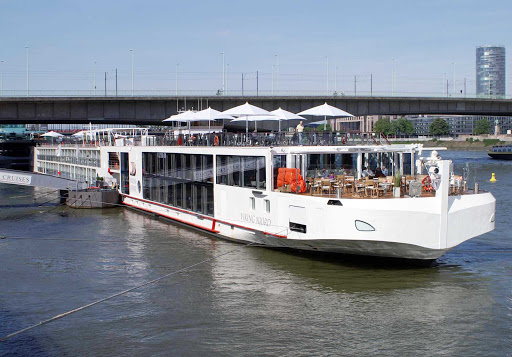 Viking-Njord-Cologne2 - The river cruise ship Viking Njord in Cologne, Germany.