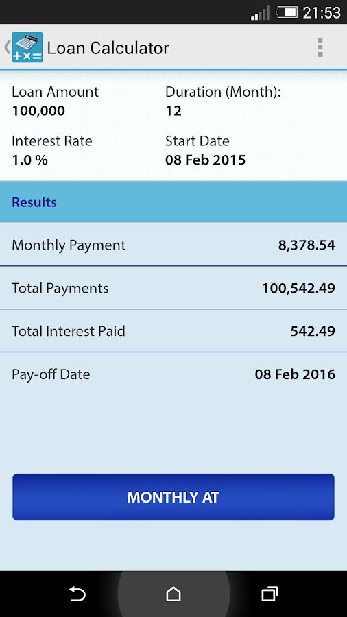 Auto loan calculator total amount paid 11