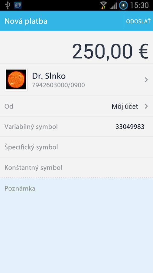 Platby - screenshot