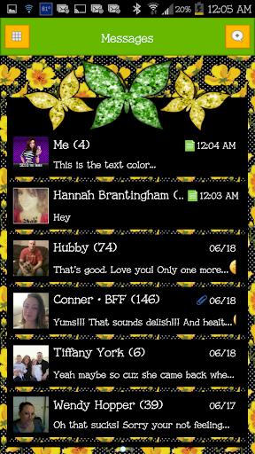 GO SMS - Cute Butterfly 3