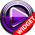 Poweramp widget Purple Glas icon