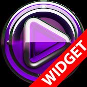 Poweramp widget Purple Glas