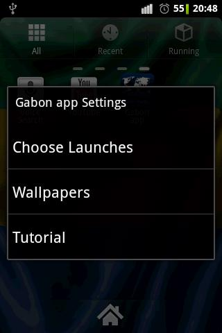 Gabon flag clocks- screenshot