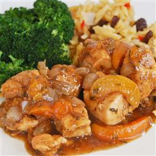 Apricot Chicken with Balsamic Vinegar.
