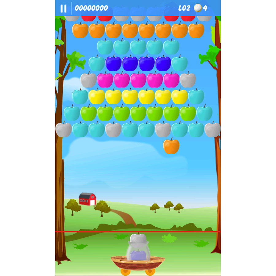 Apple Bubbles (bubble shooter) - screenshot