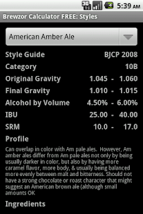 Brewzor Calculator FREE - screenshot thumbnail