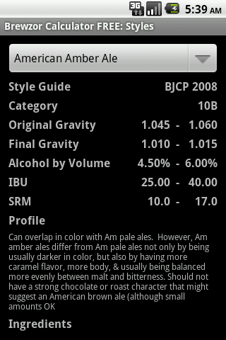 Brewzor Calculator FREE - screenshot