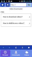 Screenshot of Video downloader