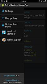 Online Nandroid Backup * ROOT Screenshot 2