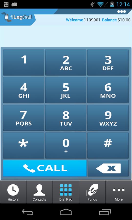 1LegCall - VoIP Dialer - screenshot