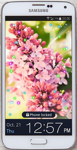 Blooming Lilac live wallpaper