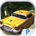 Taxi Driver 3D Cab parking icon