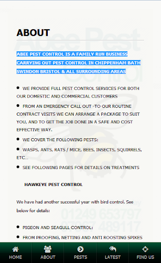 Abee Pest Control