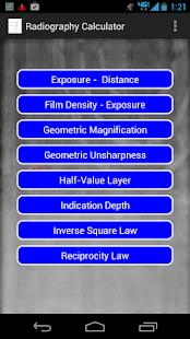 Radiography Calculator