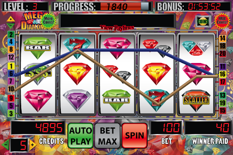Mega Diamonds Slot Machine- screenshot thumbnail