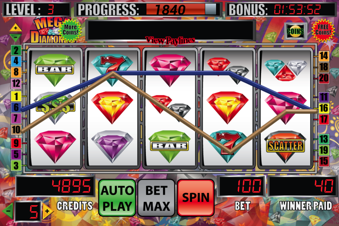Mega Diamonds Slot Machine - screenshot