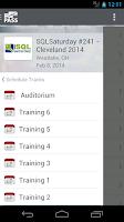 Screenshot of PASS Events