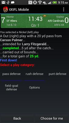 tXtFL: strategic football - screenshot