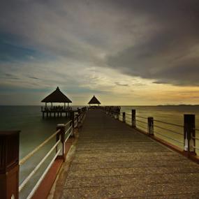 wait rain by Arik S. Mintorogo - Buildings & Architecture Bridges & Suspended Structures