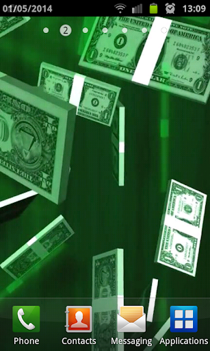 Dollar Rain Live Wallpaper