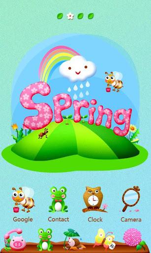 Spring GO Launcher Theme