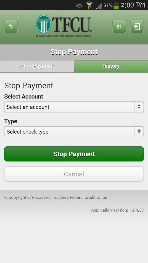 TFCU Mobile 1.1 - screenshot
