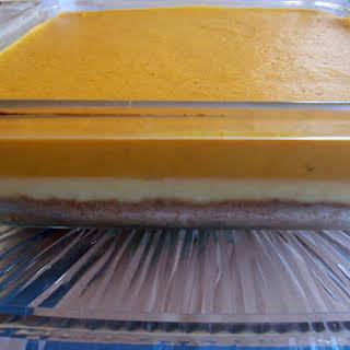 Thanksgiving Dulce de Leche Pumpkin Mousse Cheesecake.