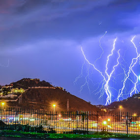 Suburb lightning strikes by Alexius van der Westhuizen - Landscapes Weather ( lightning, johannesburg, thunderbolts, south africa, summer storms, electric storms,  )