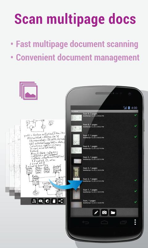 Mobile Doc Scanner - Free - screenshot