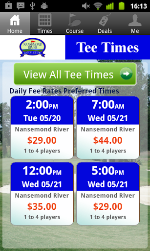 Nansemond River Golf Tee Times