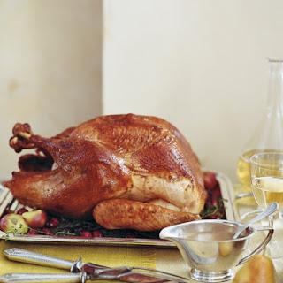 Roasted Brined Turkey.