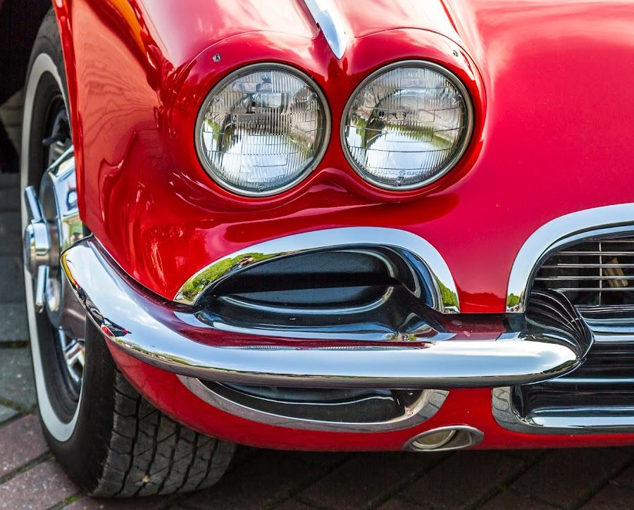 Vette Vette Underground by Arti Fakts - Transportation Automobiles ( car, red, corvette, wheel, headlights, chevrolet, automobile, chrome, artifakts )