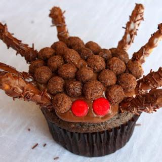 Chocolate- Nutella Spider Cupcakes.