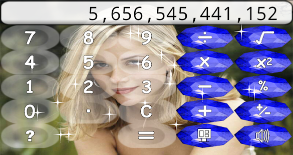 Calculator with Diamonds - screenshot thumbnail