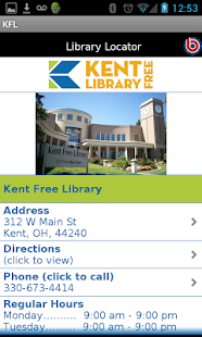 Kent Free Library- screenshot thumbnail