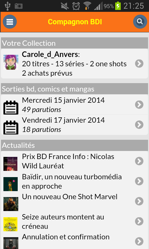 Compagnon BDI - screenshot